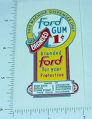One Cent Ford Gumball Machine Sticker              V-21