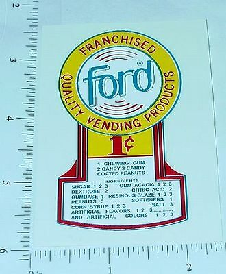 One Cent Ford Gumball Machine Sticker              V-13
