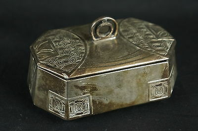 "Excellent Jugendstil Art Nouveau Silver ? Box Marked ca. 1910 5"" [Y9-W7-A9-E9]"