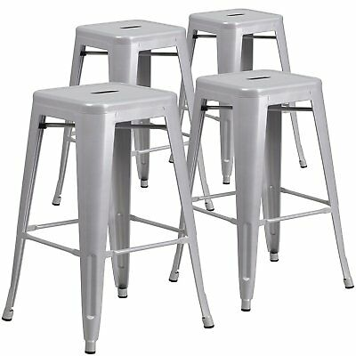26-inch NEW Counter Height Stool Backless Chair Vintage Antique Style, Set of 4