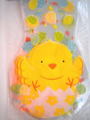 """Pkg. of 20 Shaped """"EASTER CHICK """" Luxury Cello Candy Bags ~ 6.25"""" x 10"""""""