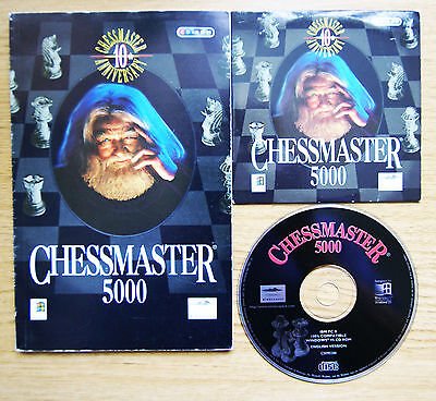 CHESSMASTER 5000 - Mindscape Chess Simulation PC Software CD-ROM + Manual