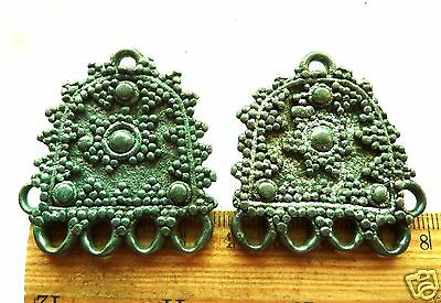 Pair of Medieval Bronze Decorations (k107)
