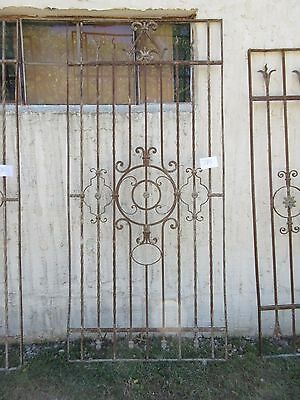 Antique Victorian Iron Gate Window Garden Fence Architectural Salvage #785