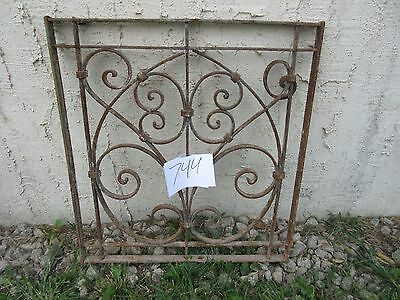 Antique Victorian Iron Gate Window Garden Fence Architectural Salvage #744