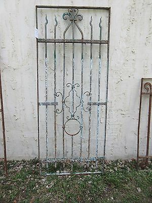 Antique Victorian Iron Gate Window Garden Fence Architectural Salvage #752