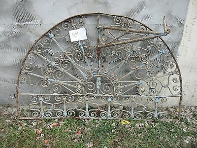 Antique Victorian Iron Gate Window Garden Fence Architectural Salvage #801