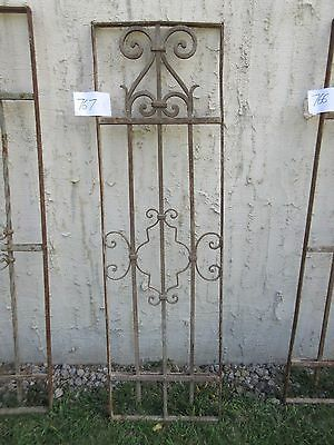 Antique Victorian Iron Gate Window Garden Fence Architectural Salvage #767