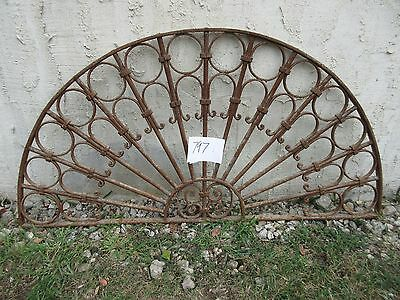 Antique Victorian Iron Gate Window Garden Fence Architectural Salvage #797