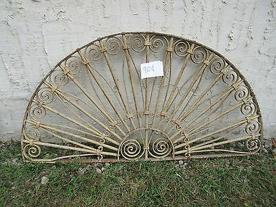 Antique Victorian Iron Gate Window Garden Fence Architectural Salvage #804