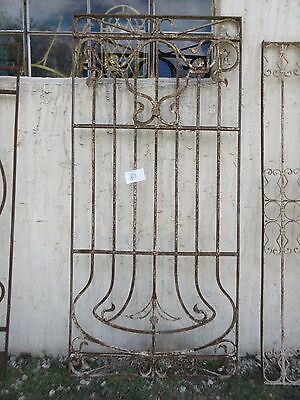 Antique Victorian Iron Gate Window Garden Fence Architectural Salvage #788