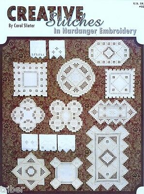 Creative Stitches in Hardanger Embroidery BOOK Doilies Baptismal Towels NEW