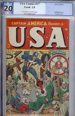 USA #17 -- Captain America -Unrestored TIMELY PGX
