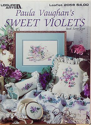 """""""Sweet Violets"""" Leisure Arts 2059 counted cross stitch pattern"""
