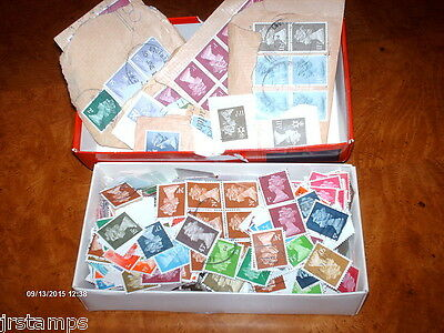 Great Britain UK Collection Accumulation of Machins QE2 heads  Mostly OFF Paper