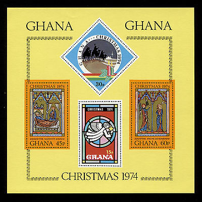 OPC 1974 Ghana Christmas Souvenir Sheet Sc#548 Mint Never Hinged
