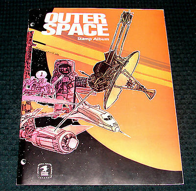 OPC 1982 USPS Outer Space Stamp Album with Stamps 15 pgs