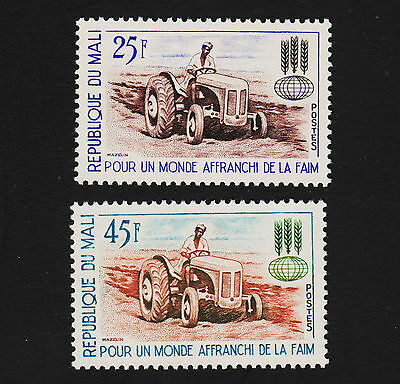 1963 Mali Tractor Set Sc#43-44 Mint Never Hinged