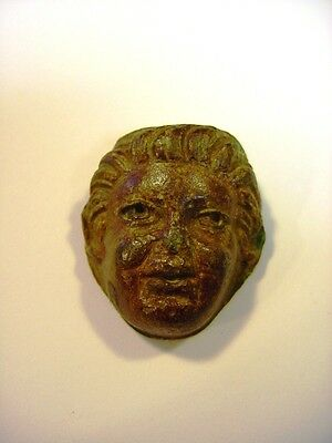 *~ I B.C. - I A.D. Ancient Roman Bronze Head Effigy - 32 mm X 30 mm, 56 gr.