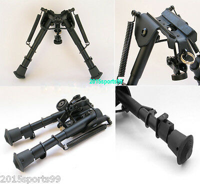 """Tactica  6""""- 9""""  Harris Style Rifle Bipod Metal Foregrip adjusted Spring Legs"""