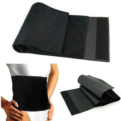 Fat Cellulite Burner Slimming Exercise Waist Belt Tummy Shaper Body Wrap Gym