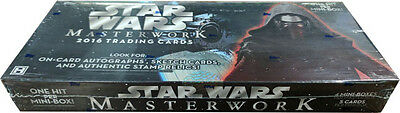 Star Wars Masterwork 2016 Factory Sealed Master Hobby Box
