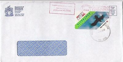 Stamp BOXLINK Australia on Planning Deptment cover 1993 Melbourne used locally