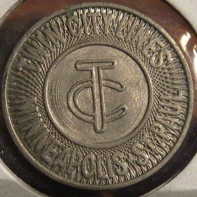 1959 Twin City Lines Minneapolis, MN - St. Paul Student Transit Bus Token
