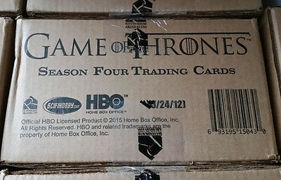 Game of Thrones Season 4 Full Case of 12 Factory Sealed Trading Card Boxes