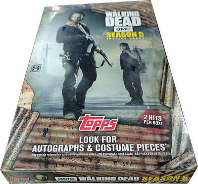 Walking Dead Season 5 Factory Sealed Trading Card Hobby Box