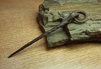 ANCIENT RARE 100% Authentic Viking Iron PIN 10-12 century AD  #2273