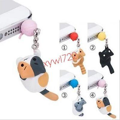 Game Neko Atsume ねこあつめCat Anti dust plug cat earphone jack phone charm iphone