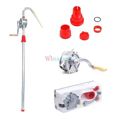 Self Priming Manual Hand Crank Rotary Pump Gas Oil Fuel Transfer 10GPM Dispenser