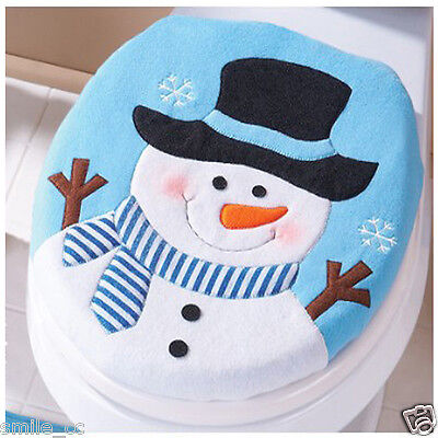 Christmas Decoration Christmas Snowman Lid Single Toilet Cover Fast Shipping