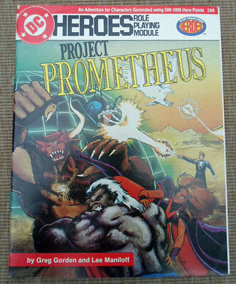 Mayfair DC Heroes Role Playing Game RPG Project Prometheus Adventure Module