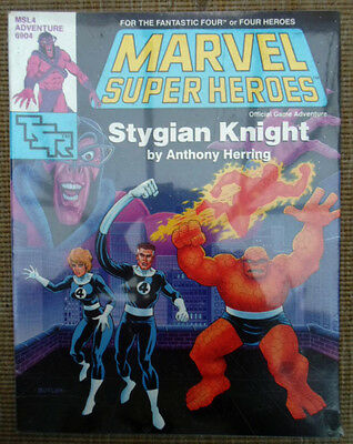 TSR Marvel Super Heroes Role Playing Game RPG Stygian Knight Adventure Module