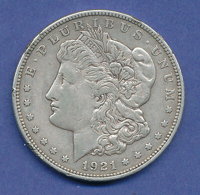 USA Silbermünze Morgan-Dollar D 1921