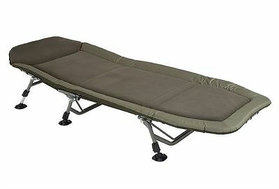 Chub NEW Carp Fishing Green Vantage Padded Flat 6 Leg Bedchair - 1378158