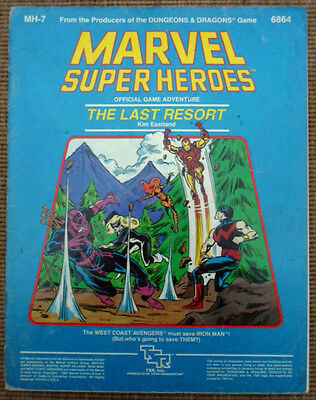 TSR Marvel Super Heroes Role Playing Game RPG The Last Resort Adventure Module