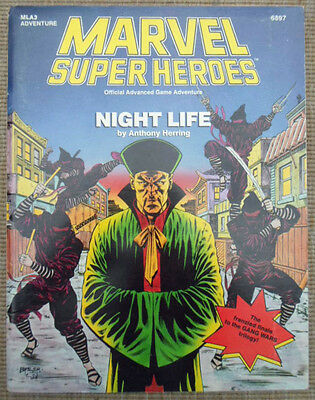 TSR Marvel Super Heroes Role Playing Game RPG Night Life MLA3 Adventure Module
