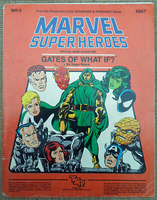 TSR Marvel Super Heroes Role Playing Game RPG Gates Of What If? MH-9 Module