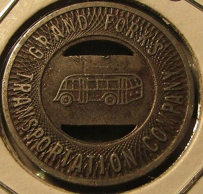 1944 Grand Forks, ND Transportation Company Transit Bus Token - North Dakota