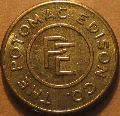 1949 The Poptmac Edison Co. Hagerstown, MD Transit School Bus Token - Maryland