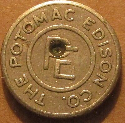 1949 The Poptmac Edison Co. Hagerstown, MD Transit Bus Token - Maryland