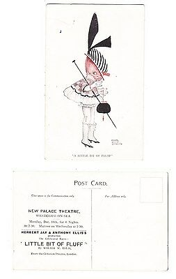 Early Postcard,Essex, Westcliff On Sea , Advertising Card,The New Palace Theatre