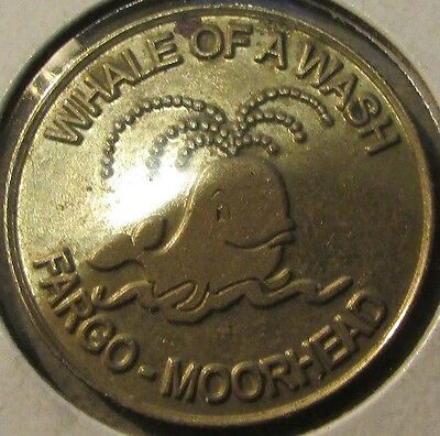 Vintage Whale of a Wash Fargo, ND Moorhead, MN Car Wash Token