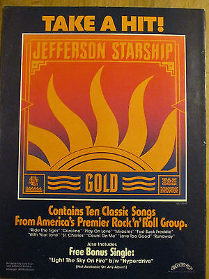Jefferson Starship, Gold, Full Page Vintage Promotional Ad