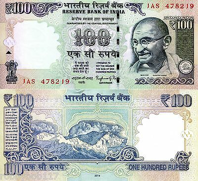 INDIA 100 Rupees Banknote World Paper  Money UNC Currency Pick p-105f Gandhi
