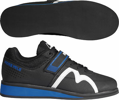 More Mile More Lift 2 Weightlifting Cross Fit Gym Powerlift Shoes Mens White