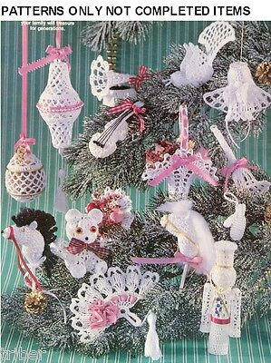 21 Victorian Crochet Ornament PATTERNS Baby Shower Christmas Wedding